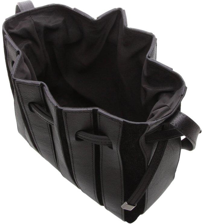 Bolsa  Bucket Pequena  Couro Parioli Preta