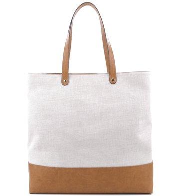 Bolsa Shopping Tecido Natural