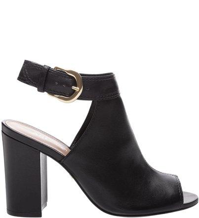 be9d6f0504 Sandal Boot West Side Couro Salto Alto Bloco Preta
