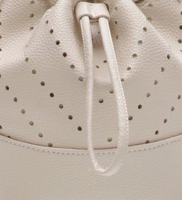 Bolsa Bucket Puntino Off White