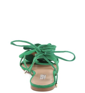 Rasteira Lace Up Flor Boa Luz