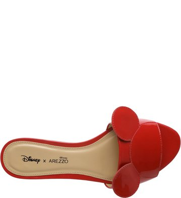 Disney x Arezzo | Slide Verniz Pop Flame