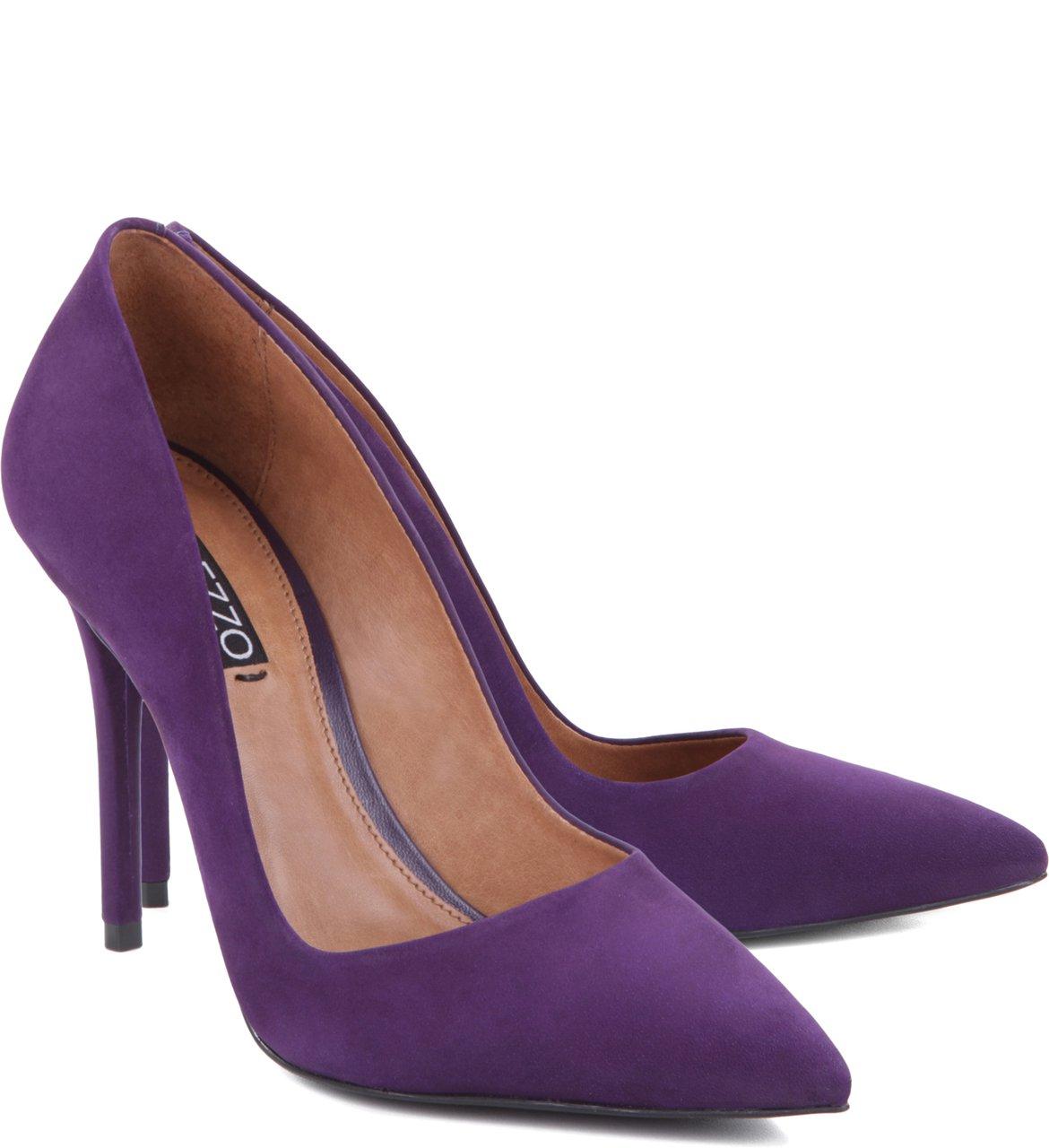 5f6339f070 Scarpin Nobuck Violeta
