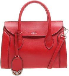 Bolsa Couro Lady Satchel Porto Rosso Royal Red