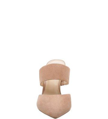 Mule Nobuck Bico Fino Feminino Soft Rose