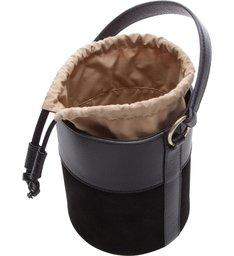 Bolsa Couro Bucket Pequena Nina Preta