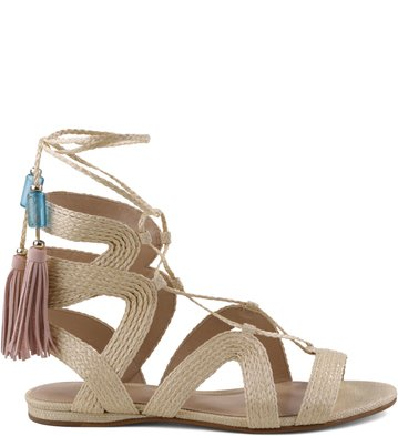 0622349b0e Gladiadora Lace-up Palha Natural