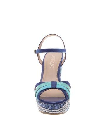 Sandália Nobuck Caribe Mykonos Blue