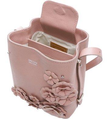 Bolsa Couro Tiracolo Pequena Letizia Fiori Rose Blush