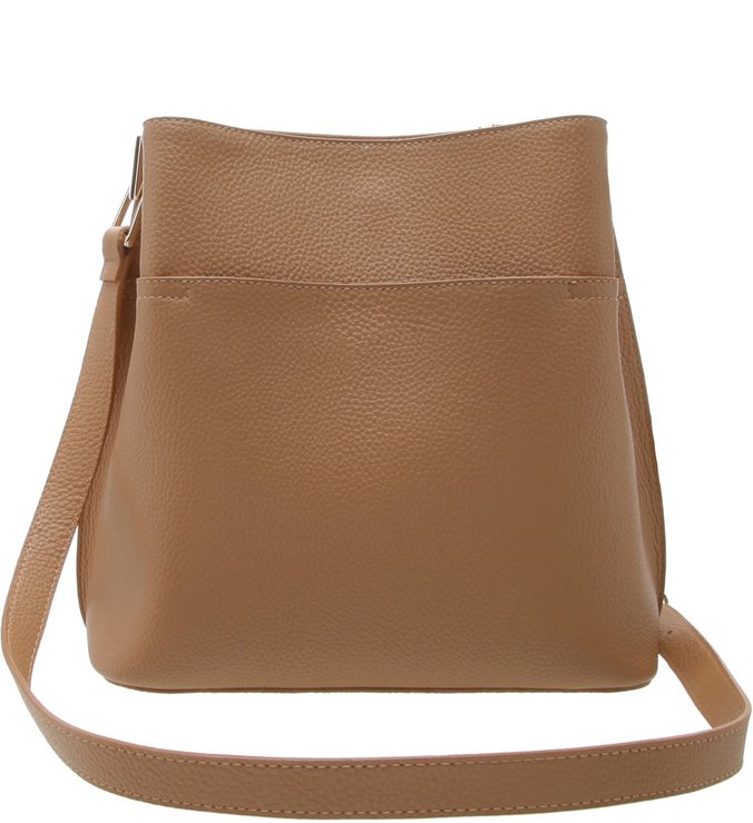 Bolsa Hobo Antonia Média Natural Tan