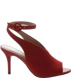 Sandal Boot Nobuck Tornozeleira Média Royal Red