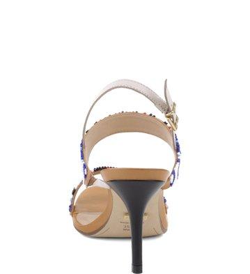 Sandália Bordado Geométrico Multi