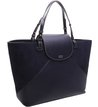 Bolsa Couro Shopping Donatella Sea Blue