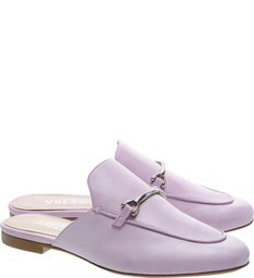 Mule Mocassim Couro Fun Lilac