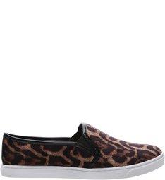 Tênis Slip On Animal Print Leopardo