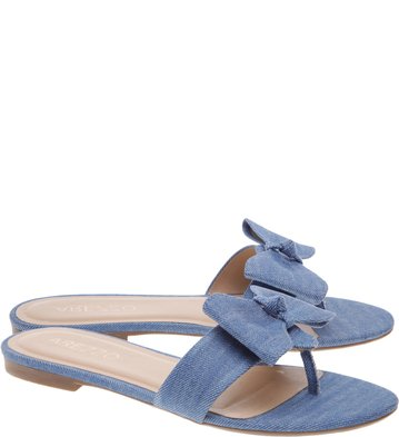 Chinelo Tecido Bow Summer Jeans