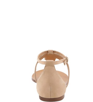 Sandália rasteira Nobuck Pelle