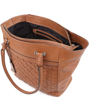 Bolsa Shopping Tramas Tan