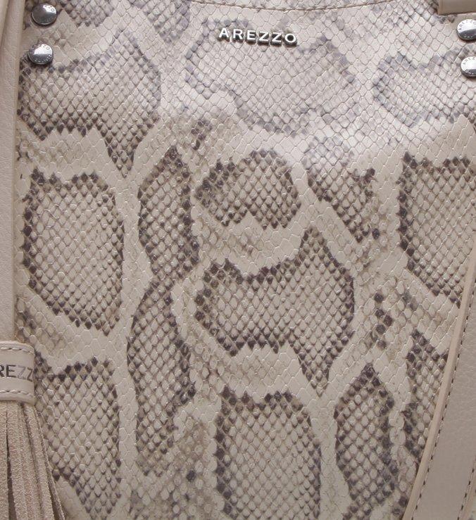 Bolsa Tote Couro Snake Nice Grande Porcelana