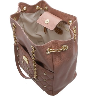 Bolsa Bucket Corrente Smoke Rose