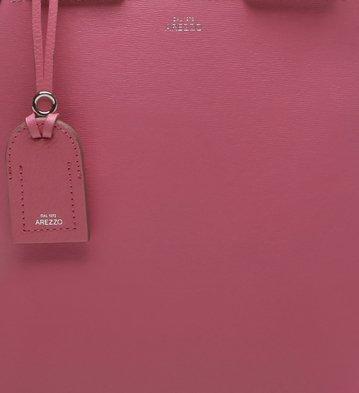 Bolsa Mochila Dois em Um Couro Auguri Grande Bubble Pink