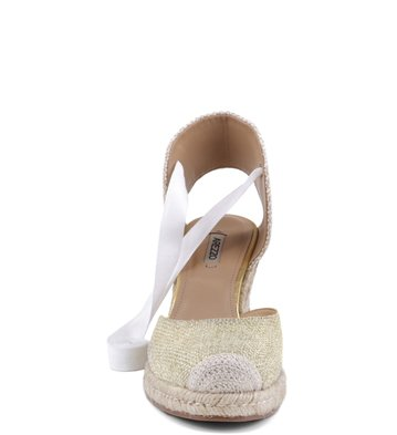 Espadrille Natural Metal Ouro