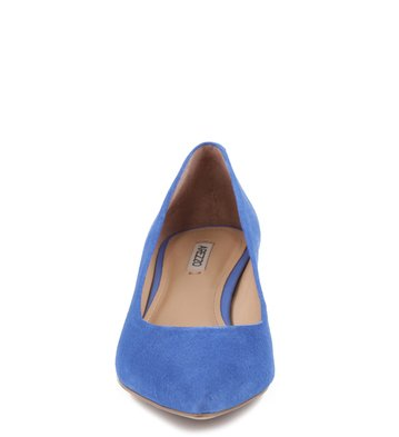 Scarpin Anabela Suede Azul