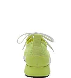 Tênis Tela Transparente Neon Limão