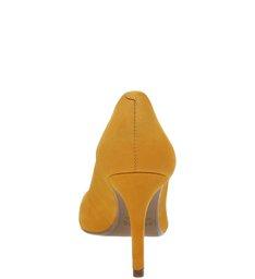 Scarpin Nobuck Salto Fino Amber Yellow