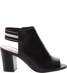 Sandal Boot Couro Elástico Multicolor Preto