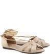 Rasteira Lace-up Palha Natural