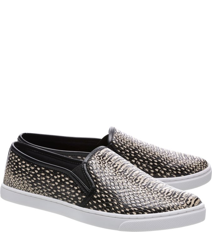 Tênis Slip On Python Animal Print Snake