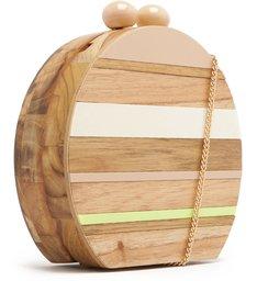 [ELE VOLTOU] Bolsa Clutch Acrílico Madeira Adélia Pequena Multicolorida