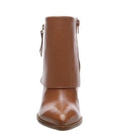 Bota Welour Salto Bloco Toast Essenciais Brown