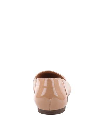 Sapatilha Recorte Verniz Nude-Rose