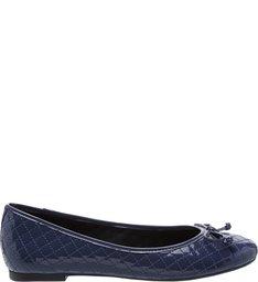 Sapatilha Verniz Matelassê Navy Blue
