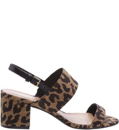 1295ee526 Sandália Salto Bloco Leopardo