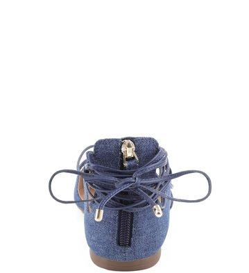 Sapatilha Amarração Jeans