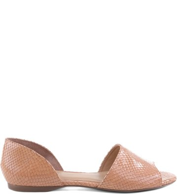 Peep Toe Snake Blush