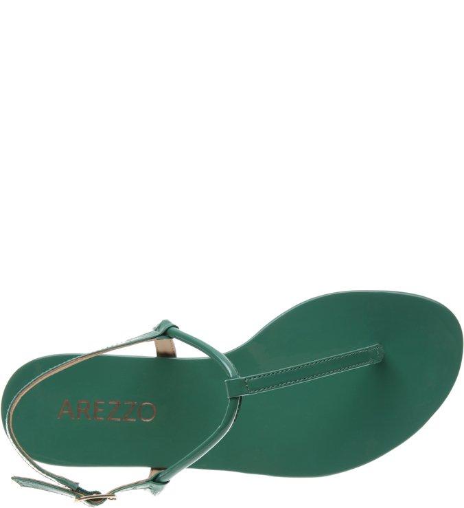 023630eef4 Sandália Rasteira Verniz Slim Verde
