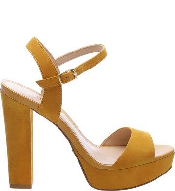 Sandália Nobuck High Savannah Old Yellow
