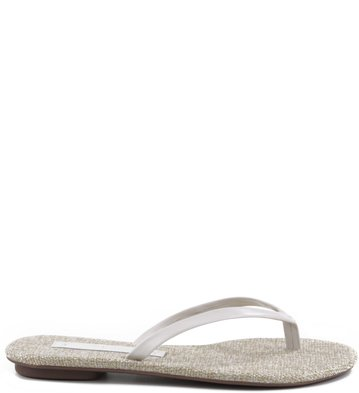 Rasteira Metallic Off-White