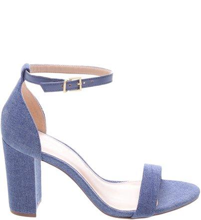 dbfb5e7e153 Sandália Nobuck Isabelli Bloco Jeans