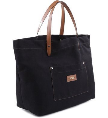 Bolsa Shopping Lona Preta