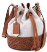 Bolsa Bucket Bicolor Tan