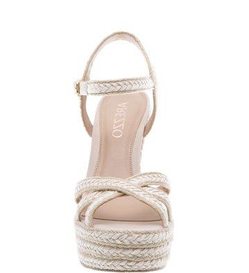 Sandália Plataforma Crochê Cru Off White