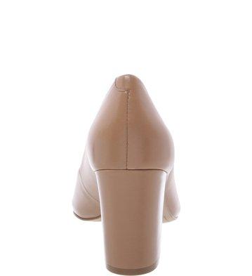 Peep-toe Bloco Nude-Vintage
