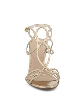 Sandália Floral Forms Specchio Platino
