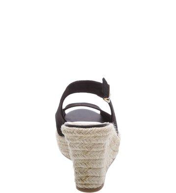 Sandália Plataforma Suede Pump Preta