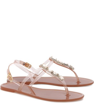 Rasteira Crystal Casual Tan